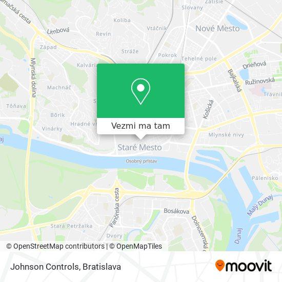 Johnson Controls mapa