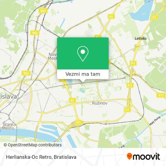 Herlianska-Oc Retro mapa