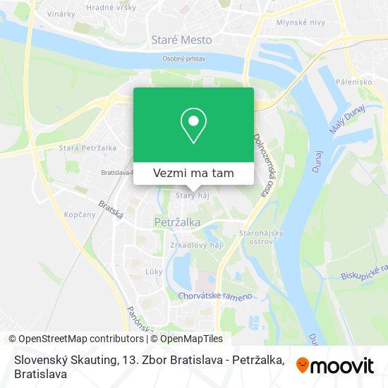 Slovenský Skauting, 13. Zbor Bratislava - Petržalka mapa