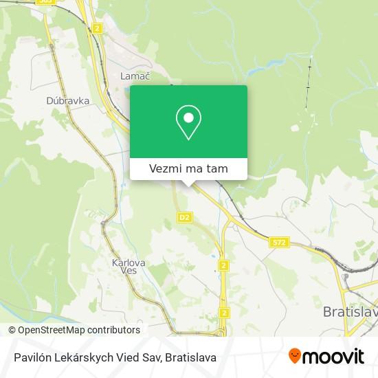 Pavilón Lekárskych Vied Sav mapa