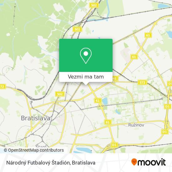 Národný Futbalový Štadión mapa