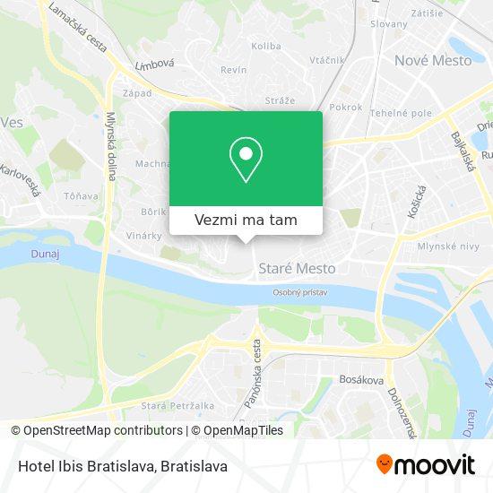 Hotel Ibis Bratislava mapa