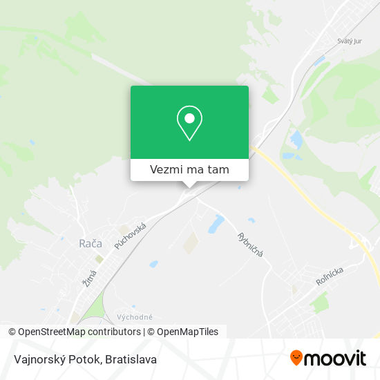Vajnorský Potok mapa