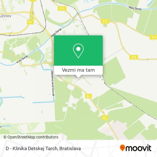 D - Klinika Detskej Tarch mapa