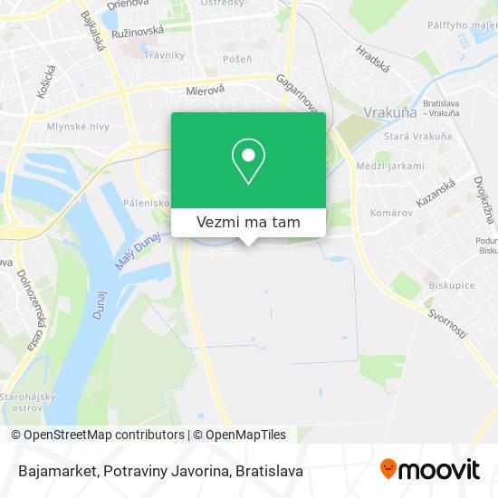 Bajamarket, Potraviny Javorina mapa