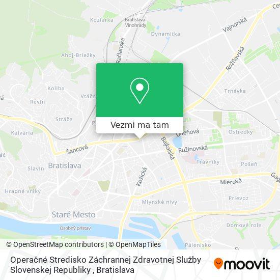 Operačné Stredisko Záchrannej Zdravotnej Služby Slovenskej Republiky mapa
