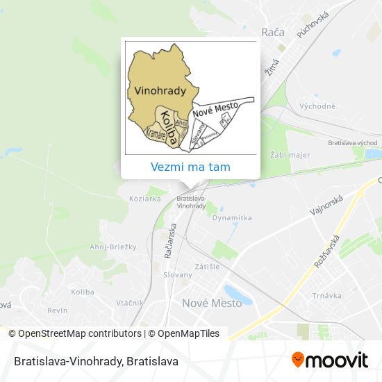 Bratislava-Vinohrady mapa