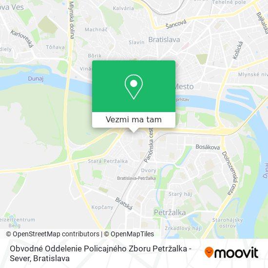 Obvodné Oddelenie Policajného Zboru Petržalka - Sever mapa