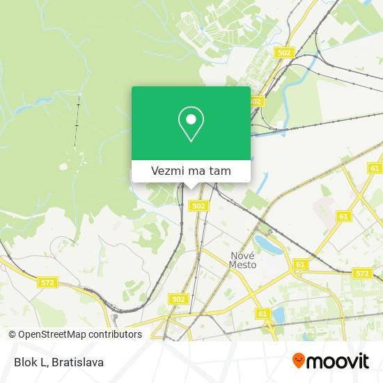 Blok L mapa