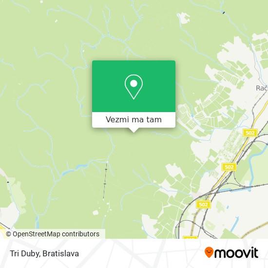 Tri Duby mapa