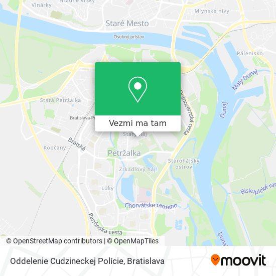 Oddelenie Cudzineckej Polície mapa