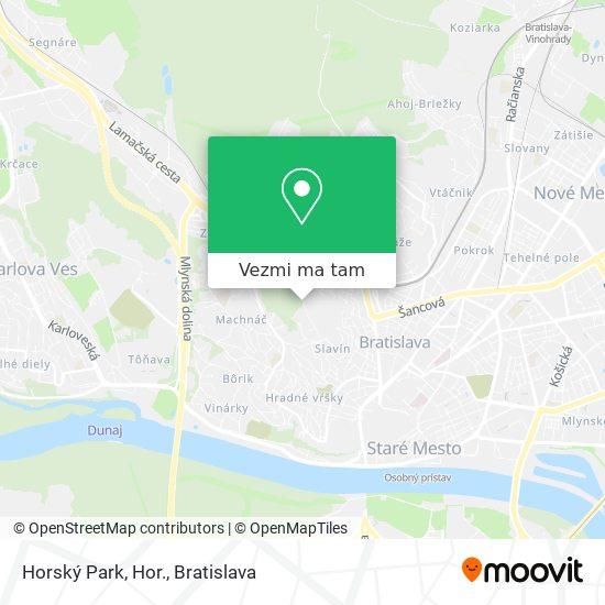 Horský Park, Hor. mapa