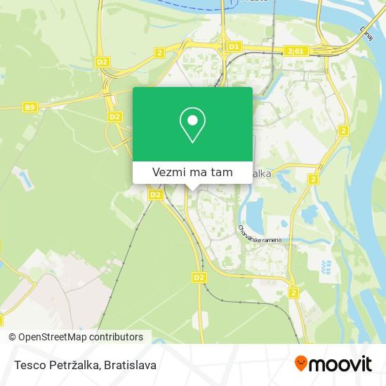 Tesco Petržalka mapa