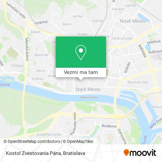 Františkánsky Kostol - Zvestovania Pána mapa
