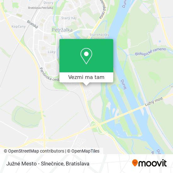 Južné Mesto - Slnečnice mapa