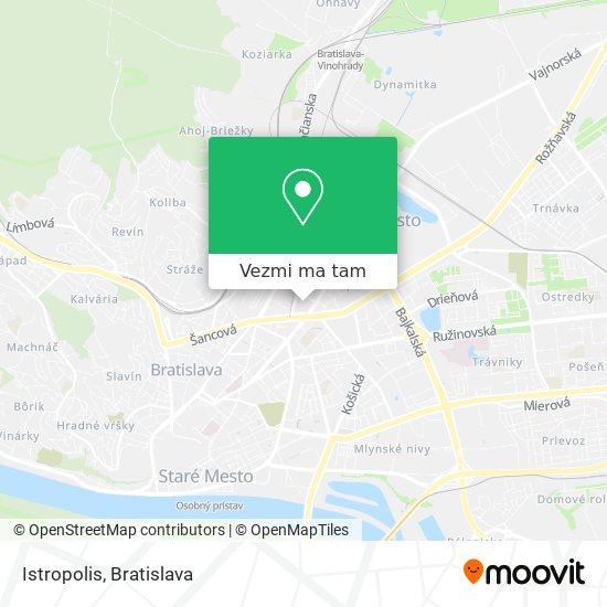 Istropolis mapa