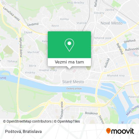 Poštová-Martinus mapa