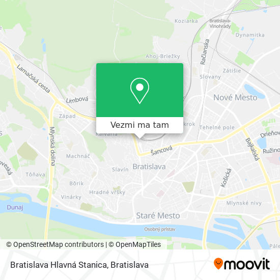 Bratislava Hlavná Stanica mapa