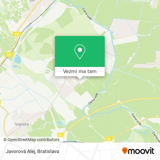 Javorová Alej mapa