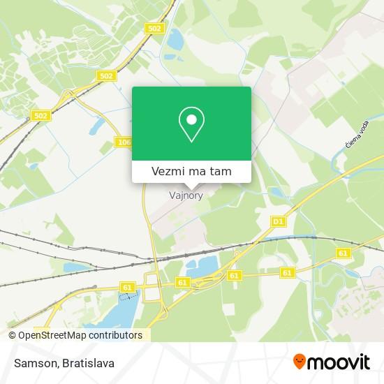 Samson mapa