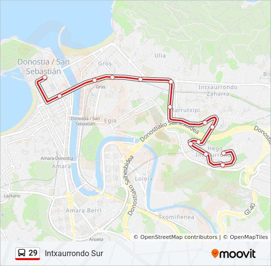 29 Route: Time Schedules, Stops & Maps - Boulevard 15 →Baratzategi 21