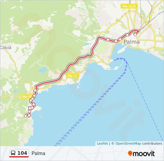 Linea 104 Horarios Mapas Y Paradas Palma