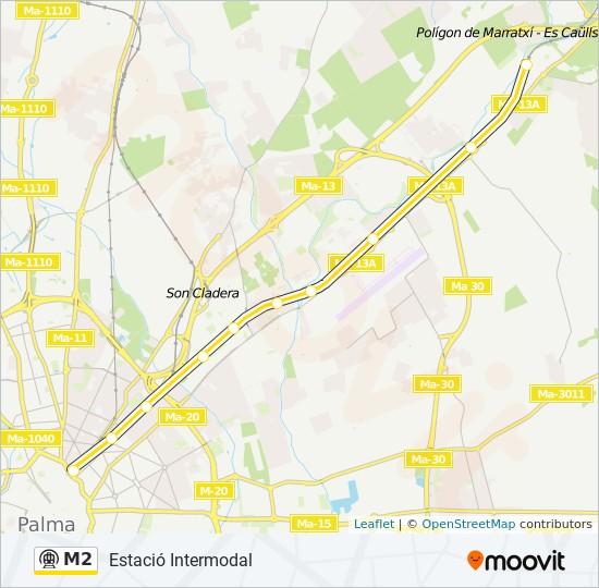 M2 metro Mapa de línia