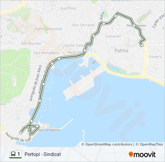 1 Route: Time Schedules, Stops & Maps - Aeroport on malta map, catalonia independence map, mediterranean sea map, barcelona map, canary islands map, palma map, world map, menorca map, lanzarote map, hong kong map, pyrenees mountains map, copenhagen map, naples map, majorca map, croatia map, ibiza map, malaga map, poland map, marseille map,