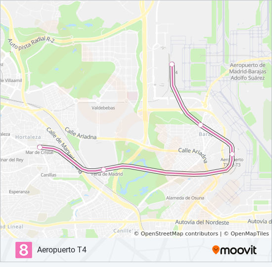 Mapa Aeropuerto Barajas T4.Linea M 8 Horarios Mapas Y Paradas Aeropuerto T4