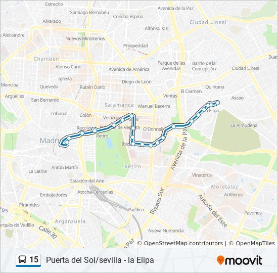 Mapa Puerta Del Sol.Linea 15 Horarios Mapas Y Paradas Sol Sevilla