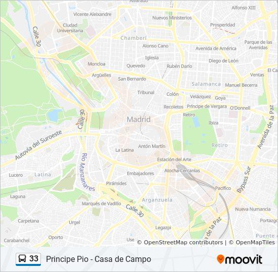 33 Route Time Schedules Stops Maps Principe Pio