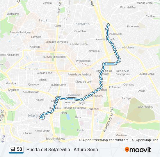 Mapa Puerta Del Sol.Linea 53 Horarios Mapas Y Paradas Sol Sevilla