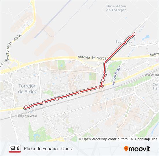 Linea 6 Horarios Mapas Y Paradas Base Aerea