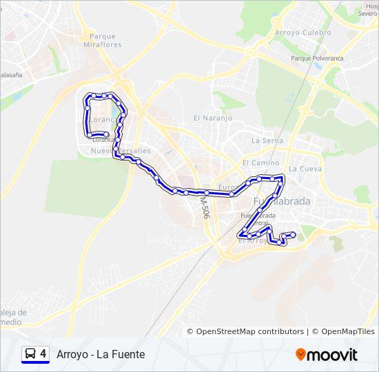 Linea 4 Horarios Mapas Y Paradas Arroyo La Fuente