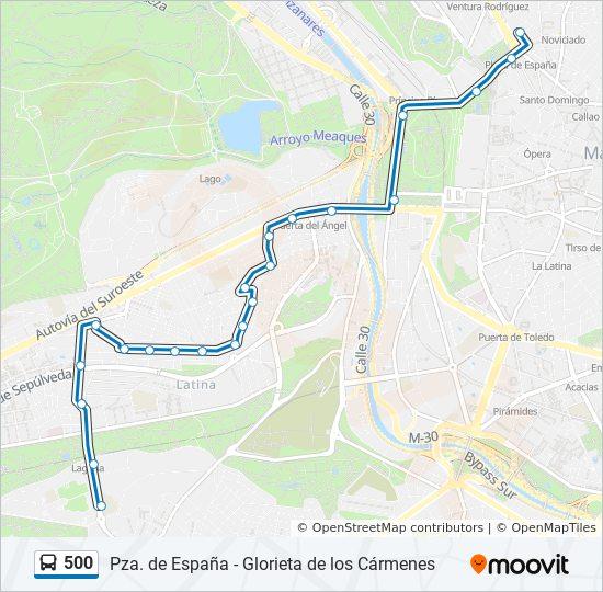 Línea 500: horarios, mapas y paradas - Alhambra - Gta  Los