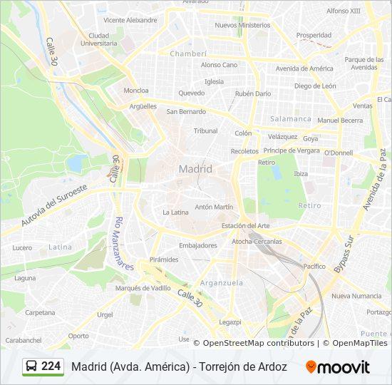 Linea 224 Horarios Mapas Y Paradas Av Constitucion Est