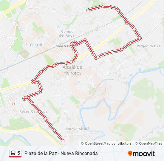Barrio Venecia Alcala De Henares Mapa.Linea 5 Horarios Mapas Y Paradas Nueva Rinconada