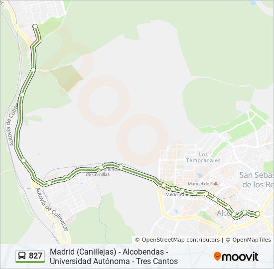 Linea 827 Horarios Mapas Y Paradas Av Espana M Sebastian