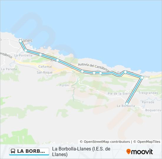 La Borbolla Llanes I E S De Llanes Route Time Schedules Stops