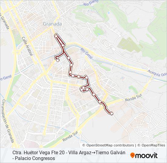 Mapa de S2 de autobús