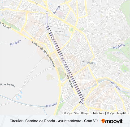 Mapa de 11 de autobús