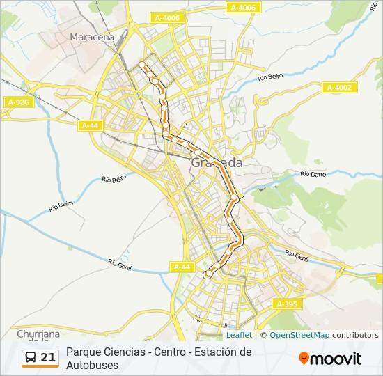 Mapa de 21 de autobús