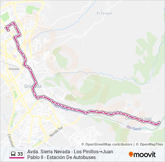 Mapa de 33 de autobús