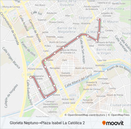 Mapa de C5 de autobús