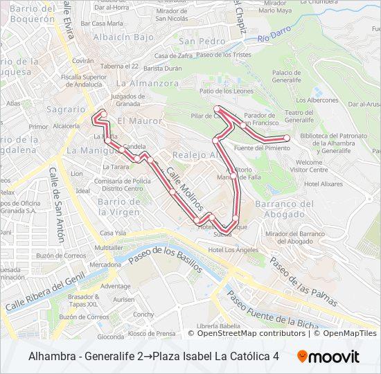 Mapa de C30 de autobús