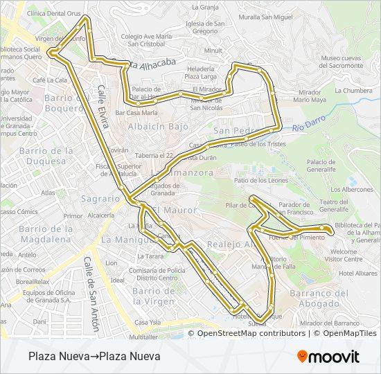 Granada Karte.Linie C32 Fahrpläne Haltestelle Karten Plaza Nueva Plaza Nueva