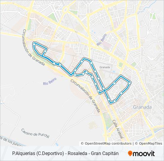 Mapa de 25 de autobús