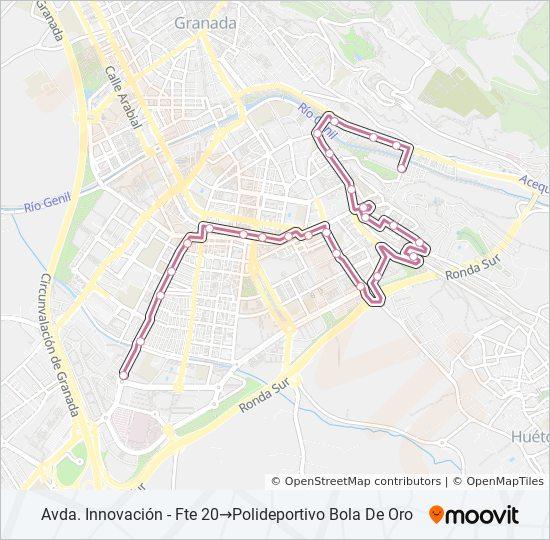 Mapa de S0 de autobús