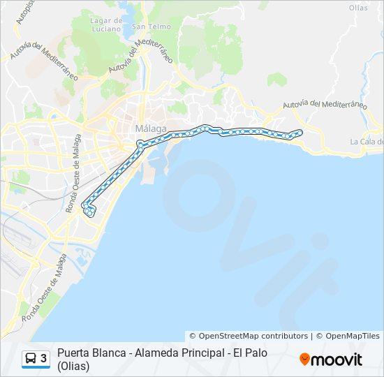 Malaga Karte Spanien.Linie 3 Fahrplane Haltestelle Karten Carretera De