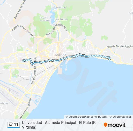 Malaga Altstadt Karte.Linie 11 Fahrplane Haltestelle Karten Dr Gutierrez
